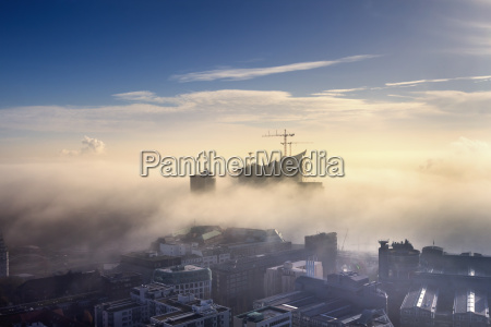 germany hamburg aerial view of the