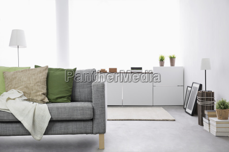modern living room with couch and