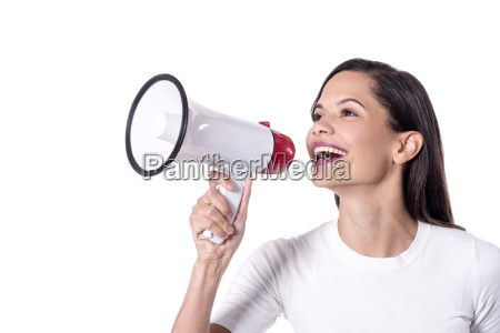 woman announcing something