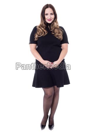 beauty woman in black dress