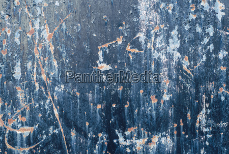 abstract texture of blue painted damaged