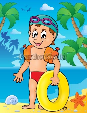 little swimmer theme image 2