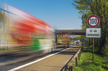 germany grevenbroich trucks on motorway sign