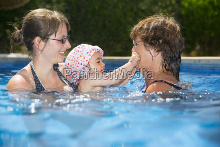 spain majorca baby girl with mother