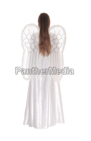 angel standing from back 1
