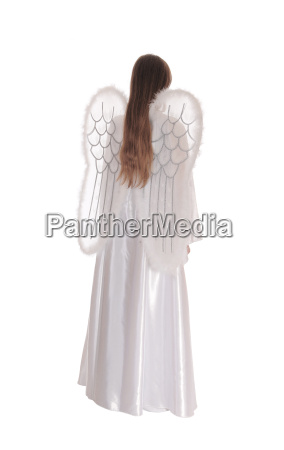 angel standing from back 2