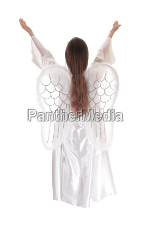 angel standing from back 12
