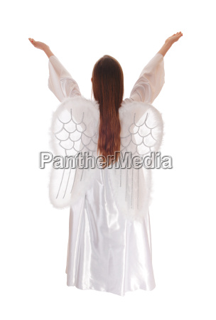 angel standing from back 15