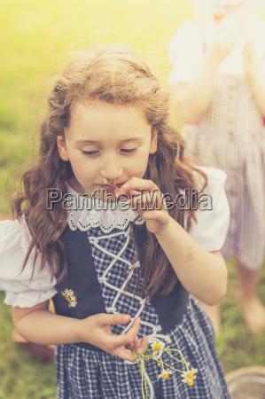 germany saxony portrait of girl wearing