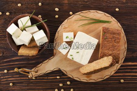 tofu and tempeh background