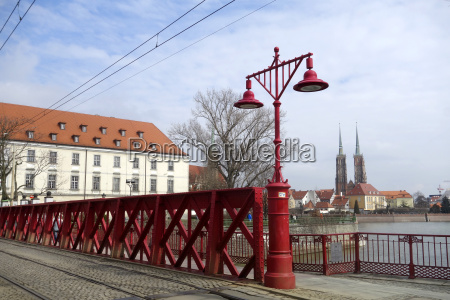 cathedral in wroclaw with sand island