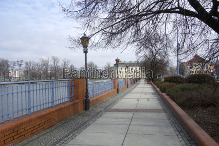waterfront on the oder in wroclaw