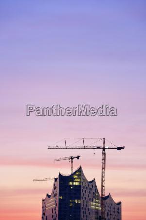 germany hamburg elbphilharmonie at dawn