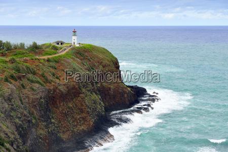usa hawaii kilauea lighthouse at kilauea