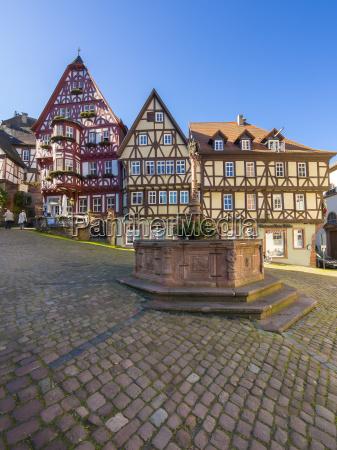 germany bavaria miltenberg half timbered houses