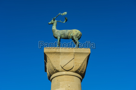 greece rhodes the deer at the