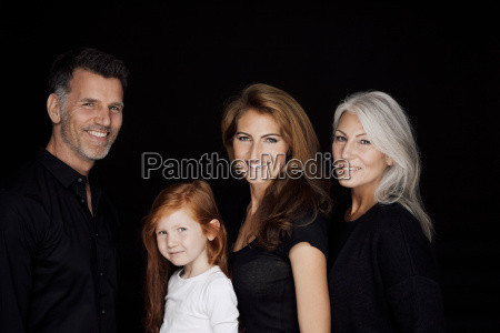portrait of three generations family in