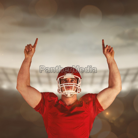 composite image of american football player
