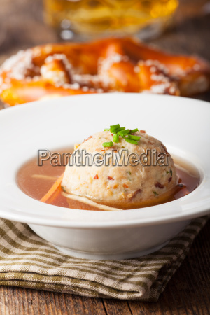 tyrolean dumplings in broth