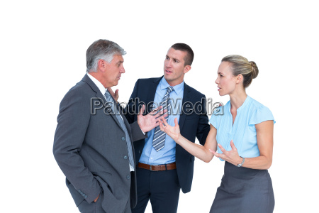 business people having a disagreement