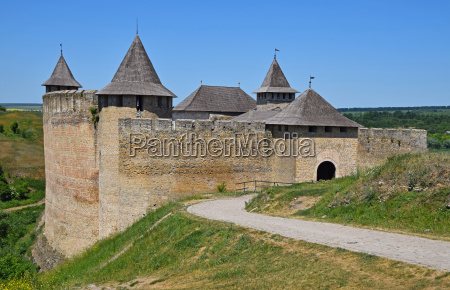 medieval fortress castle of khotyn ukraine