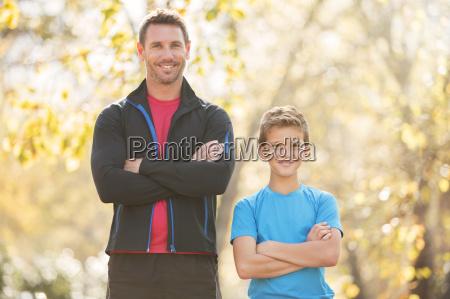 retrato padre e hijo confianza con