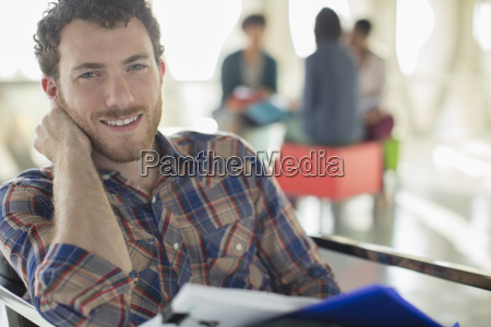 portrait of confident casual businessman with