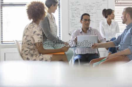 people having meeting in office