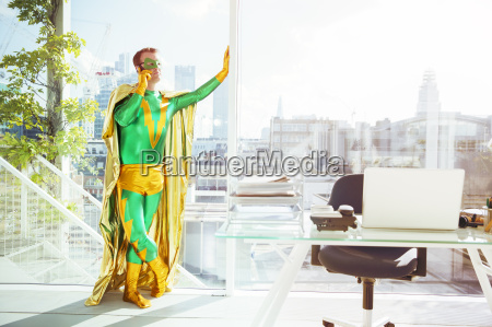 superhero talking on cell phone in