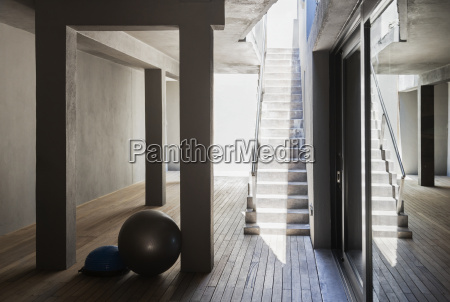 stone staircase in modern house
