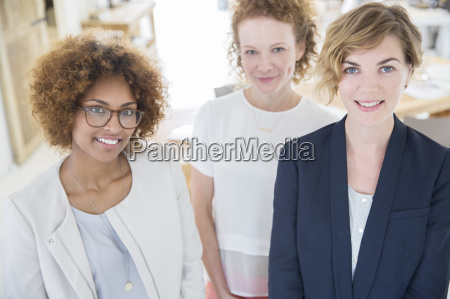 portrait of smiling office workers