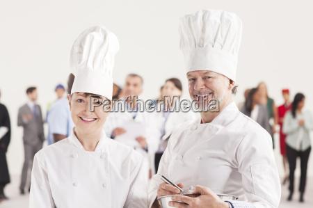 portrait of confident chefs