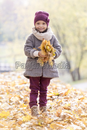 portrait of smiling girl in warm