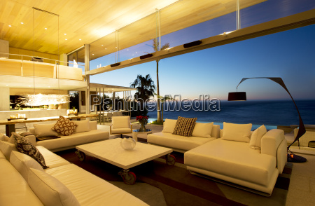 sofas and table in modern living
