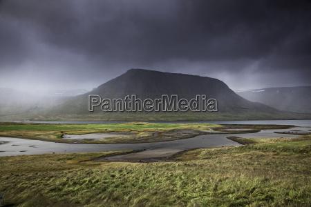 serene landscape west fjords iceland