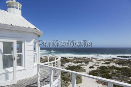 beach house overlooking ocean