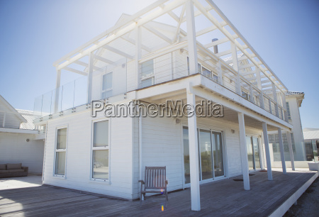 deck and balcony on white beach