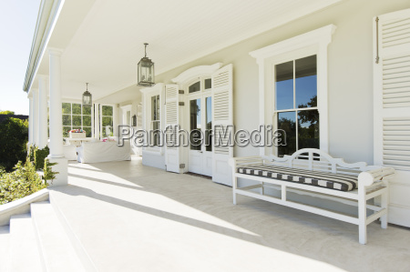 porch of luxury house