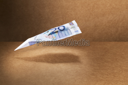 20 euro note folded into paper