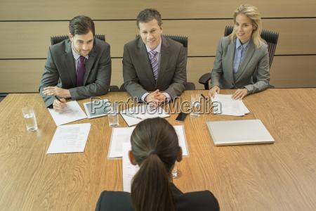 business people talking in meeting