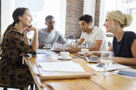 business people talking at meeting in