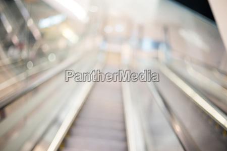 blur view of escalator