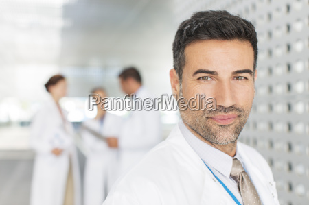 portrait of confident doctor in hospital