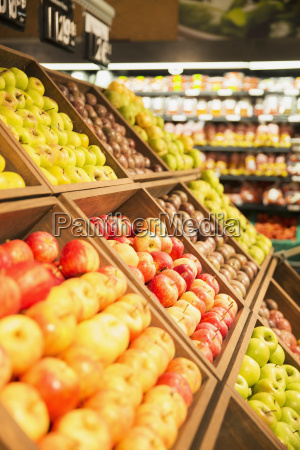 close up of fruit in produce