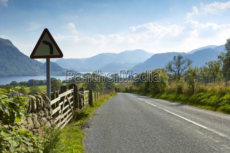 rural road through scenic lake district