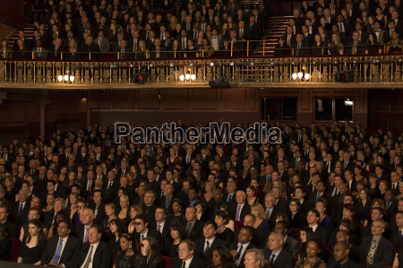 audience watching performance in theater