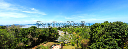 panorama high angle view sea sky