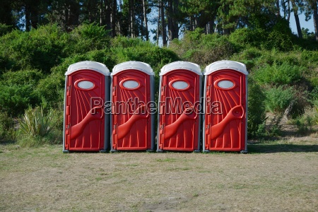 portable toilets on an event