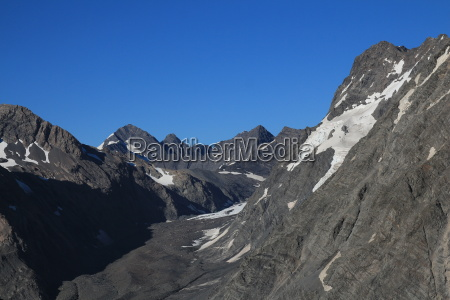 summer scene in the southern alps