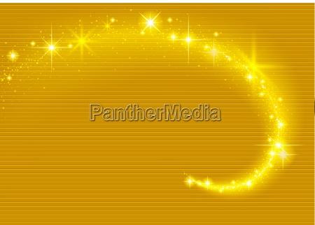 gold sparkling stream effect